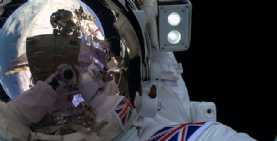 This really has to be the ultimate selfie from Tim Peake during his recent space walk.
